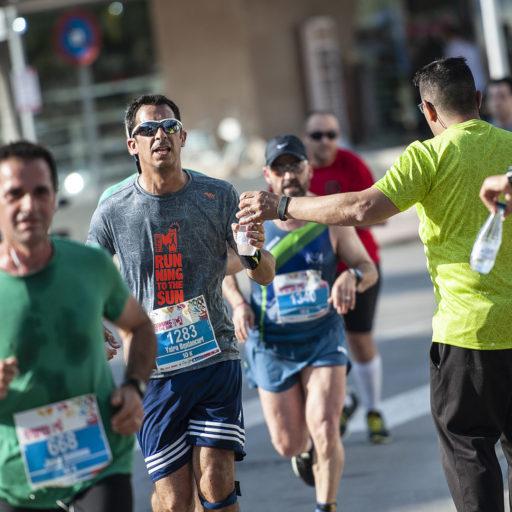 avituallamiento - half marathon magaluf