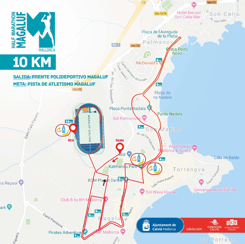 Course 10 km Half Marathon Magaluf