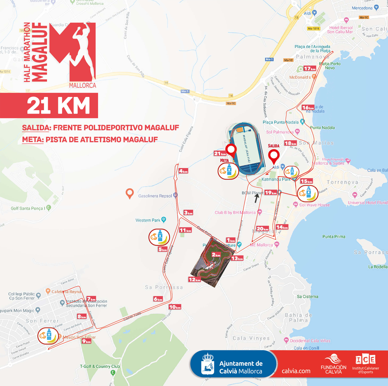 Course 21 km Half Marathon Magaluf