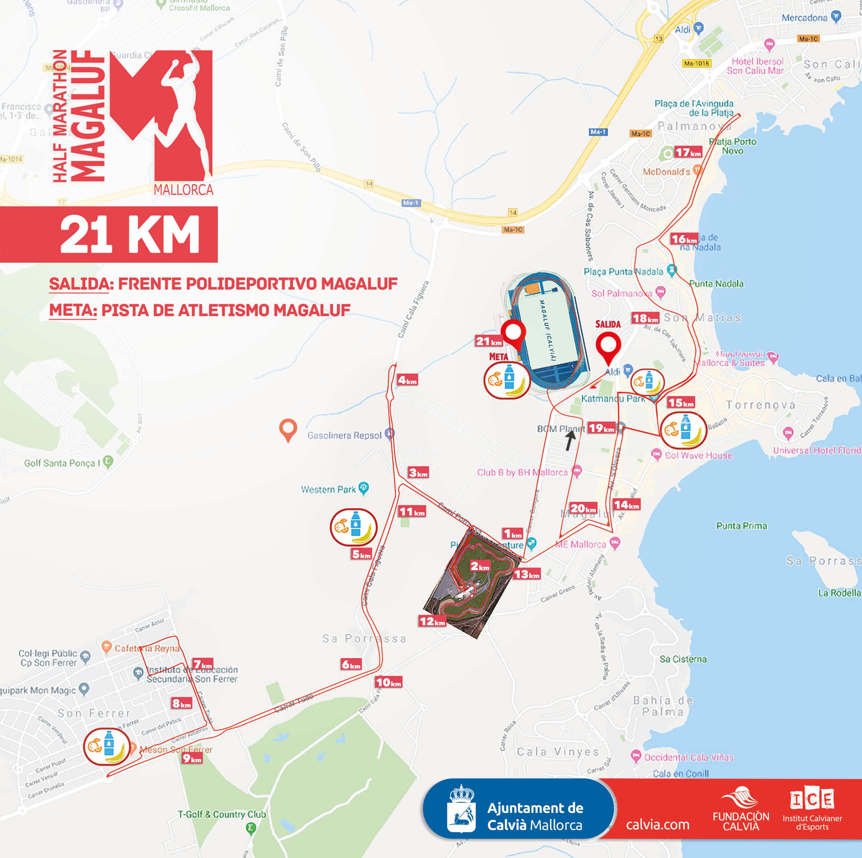 Circuito 21 km Half Marathon Magaluf