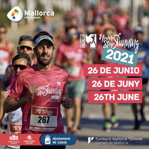 Comunicado media maratón Magaluf 2021 , Mallorca